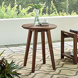 Forest Gate™ Patio Wood Side Table in Dark Brown