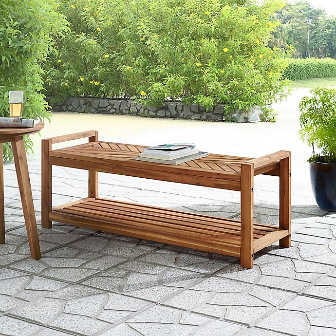 Alternate image 1 for Forest Gate™ Olive Acacia Wood Patio Bench