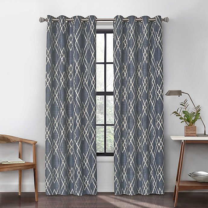 Alternate image 1 for Urban Thread Atwood Grommet Light Filtering Lined Window Curtain Panel