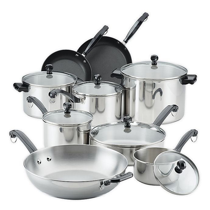 Alternate image 1 for Farberware® Classic Series Stainless Steel 16-Piece Cookware Set