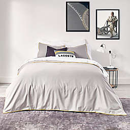 Lacoste Gorbio 2-Piece Reversible Twin/Twin XL Duvet Cover Set in Alloy Grey