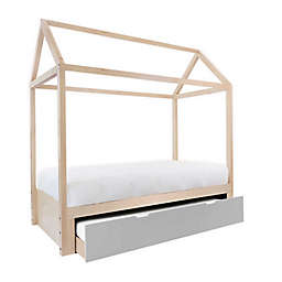 Nico & Yeye Domo Zen Twin Canopy Bed with Trundle