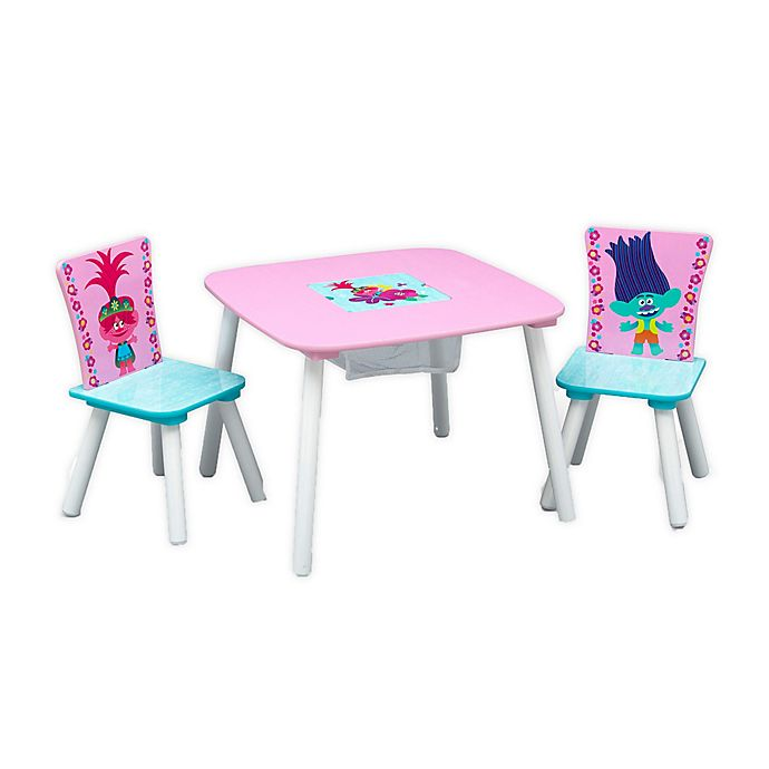 Alternate image 1 for Delta Children Trolls World Tour Table and Chair Set with Storage