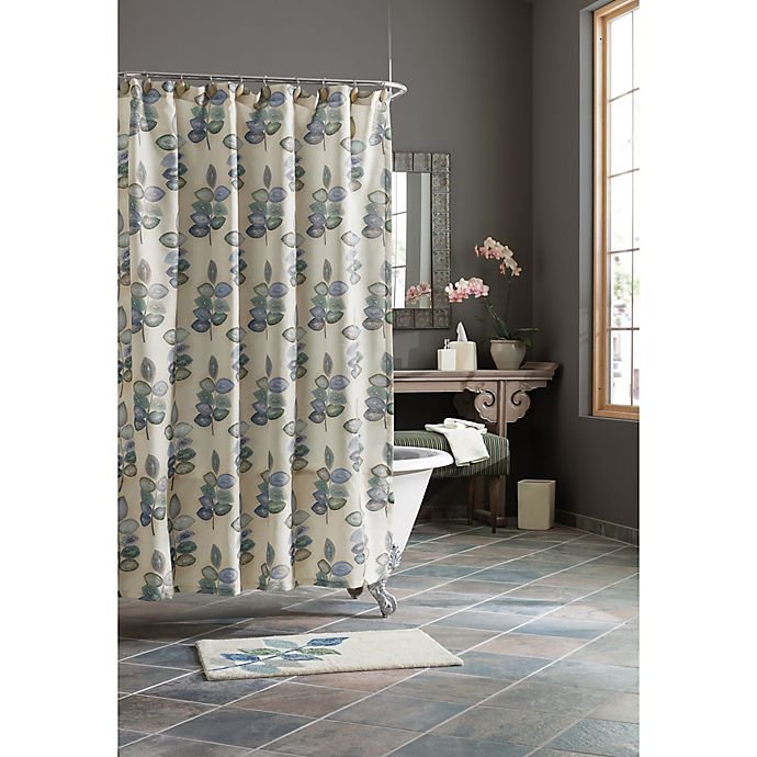 Croscill Mosaic Leaves Shower Curtain In Spa Bed Bath Beyond