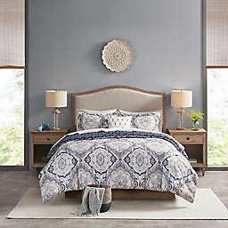 Madison Park Essentials Titus Reversible Complete Bedding Set in Navy
