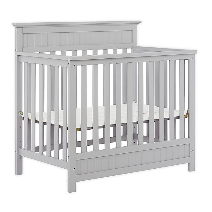 Alternate image 1 for Dream On Me Harbor 3-in-1 Convertible Mini Crib in Pebble Grey