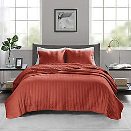 Madison Park Keaton 3-Piece King/California King Coverlet Set in Spice