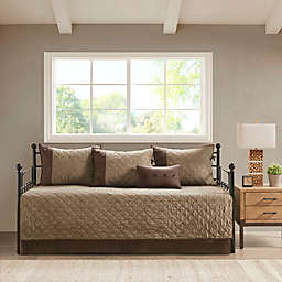 Madison Park Boone 6-Piece Reversible Daybed Bedding Set in Brown