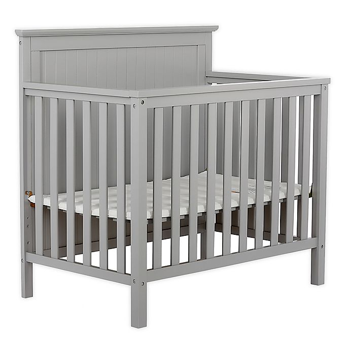 Alternate image 1 for Dream On Me Ava 4-in-1 Convertible Mini Crib in Pebble Grey