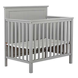 Dream On Me Ava 4-in-1 Convertible Mini Crib in Pebble Grey