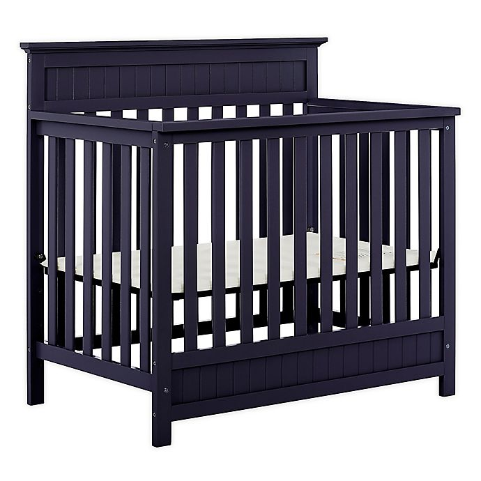 Alternate image 1 for Dream On Me Harbor 3-in-1 Convertible Mini Crib in Navy