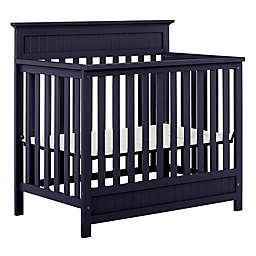 Dream On Me Harbor 3-in-1 Convertible Mini Crib in Navy