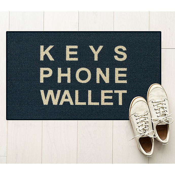 Alternate image 1 for Keys Phone Wallet 1'8 x 2'10 Accent Rug in Blue