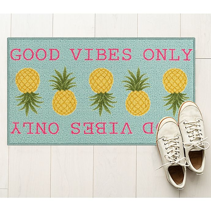 Alternate image 1 for Good Vibes Only 1'8 x 2'10 Multicolor Accent Rug