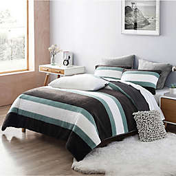 UGG® Keily Polar Faux Fur 2-Piece Twin/Twin XL Comforter Set in Agave Stripe