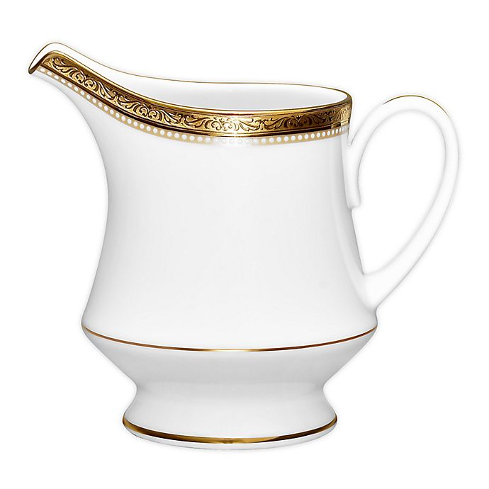 Alternate image 1 for Noritake® Stavely Gold Creamer