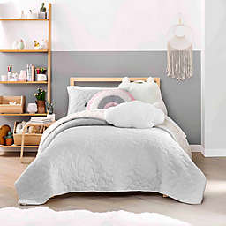 UGG® Devon Cloud 2-Piece Reversible Twin Quilt Set in Glacier Grey