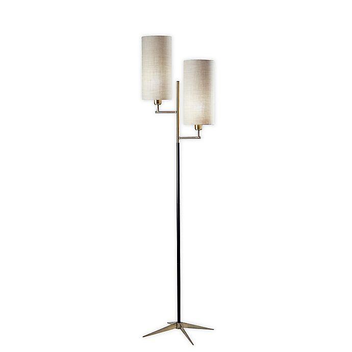Alternate image 1 for Adesso® Davis Floor Lamp in Brass