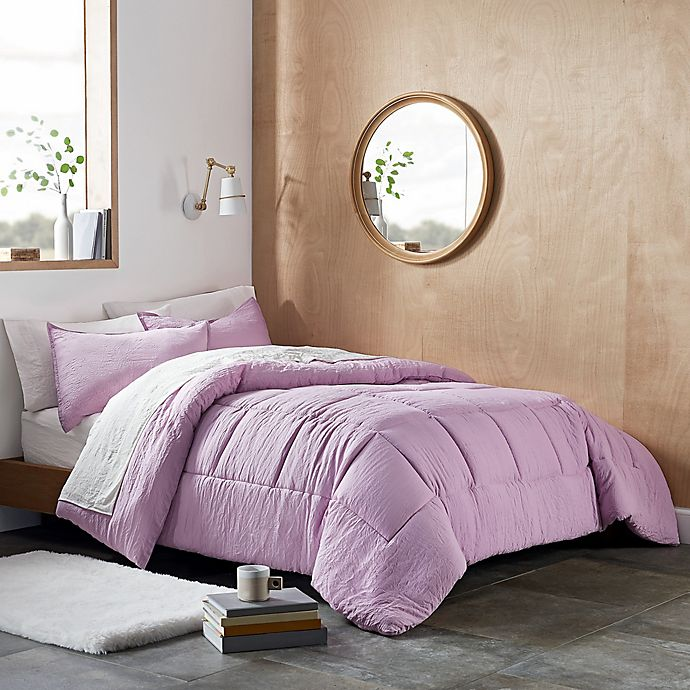 Alternate image 1 for UGG® Devon 3-Piece Reversible King Comforter Set in Lavender