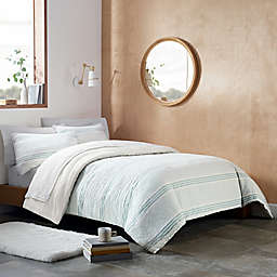 UGG® Devon 3-Piece Reversible King Comforter Set in Blue Stripe