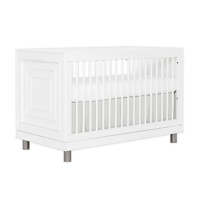 Alternate image 1 for évolur Art Deco 3-in-1 Convertible Crib in White