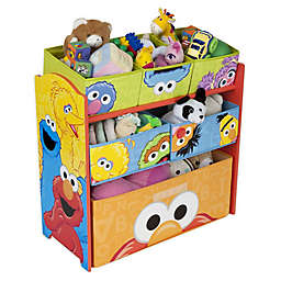 Delta Children Sesame Street 6-Bin Design and Store Toy Storage Organizer