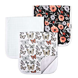 Copper Pearl Butterfly Collection 3-Pack Burp Cloths