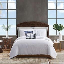 Sean John® Pleated Denim 3-Piece Comforter Set in White