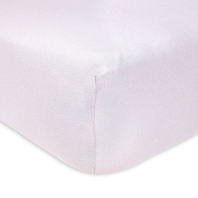 Alternate image 1 for Burt's Bees Baby™ Organic Cotton Fitted Crib Sheet in Lavender