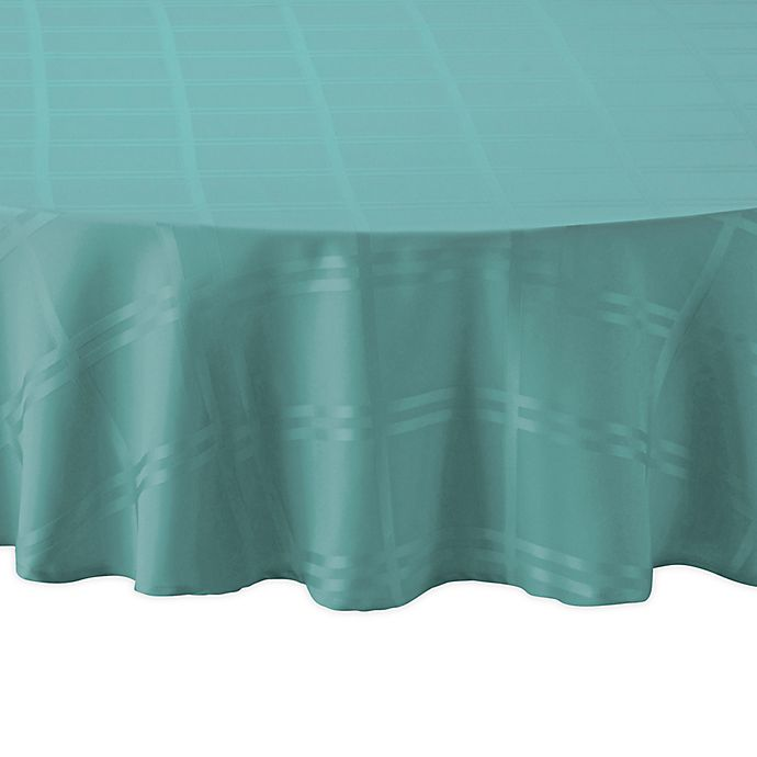 Alternate image 1 for Wamsutta® Solid 70-Inch Round Tablecloth in Turquoise