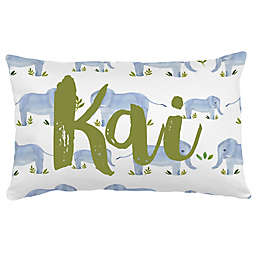 Carousel Designs® Painted Elephants Lumbar Pillow