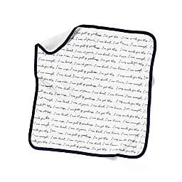 "goumi® ""You Are Loved"" Nursery Blanket in Black/White"