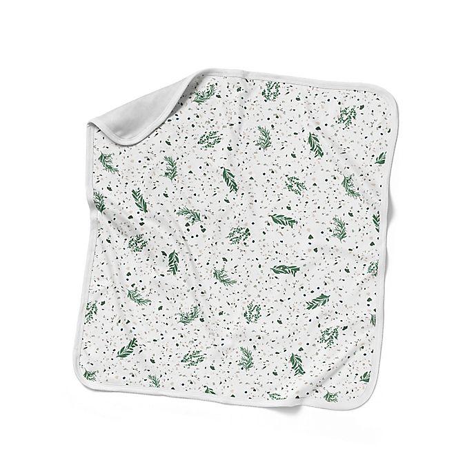 Alternate image 1 for goumi® Botanical Nursery Blanket in Green/White