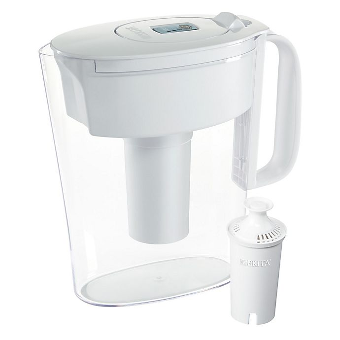 Alternate image 1 for Brita® 6-Cup Water Filter Pitcher in Metro White