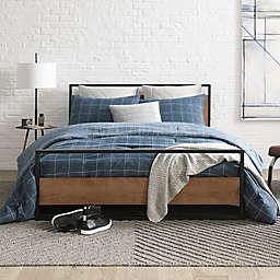 Kenneth Cole New York® Holden Grid Duvet Set in Indigo