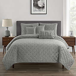 Felix 6-Piece Full/Queen Quilt Set in Platinum