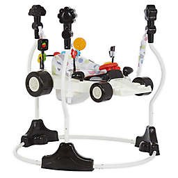 Dream on Me Champ Racecar Activity Center and Jumper in White