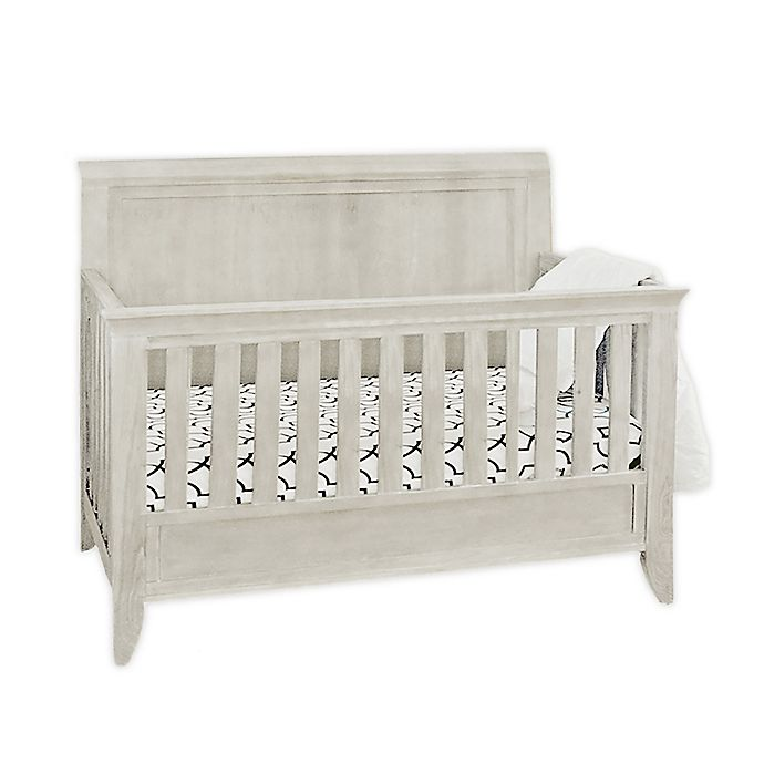 Alternate image 1 for Milk Street Baby Cameo Sleigh 4-in-1 Convertible Crib in Steam White