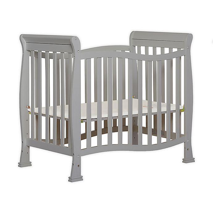 Alternate image 1 for Dream on Me Piper 4-in-1 Convertible Mini Crib in Pebble Grey