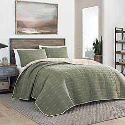 Eddie Bauer® Troutdale Reversible Quilt Set in Sprig Green
