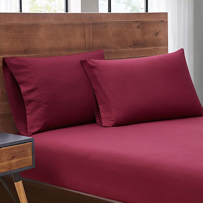 Alternate image 1 for SALT™ Truly Soft 2-Pack Microfiber Dorm Twin XL Sheet Set in Red
