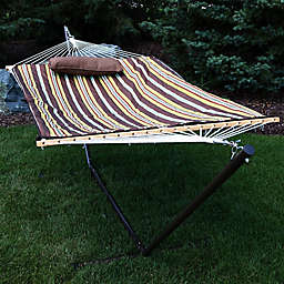 Sunnydaze Cotton Rope 10-Foot 5-Inch Hammock with Stand