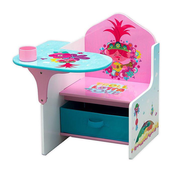 Alternate image 1 for Trolls World Tour Chair Desk with Storage Bin by Delta Children