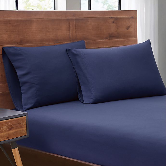 Alternate image 1 for SALT™ Truly Soft 2-Pack Microfiber Dorm Twin XL Sheet Set in Navy