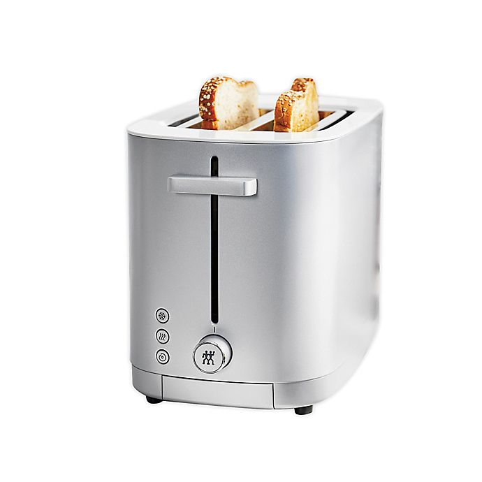 Alternate image 1 for Zwilling J.A. Henckels Enfinigy 2-Slot Toaster in Grey/White