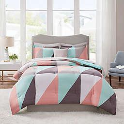 Madison Park Essentials Remy Reversible Comforter Set in Aqua