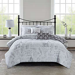 510 Design Marseille 5-Piece Reversible Duvet Cover Set