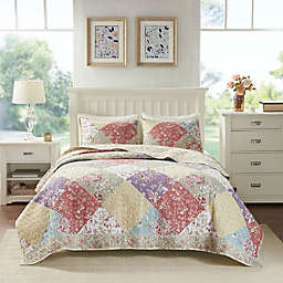 Madison Park Brynn 3-Piece Cotton Reversible Full/Queen Coverlet Set in Multi