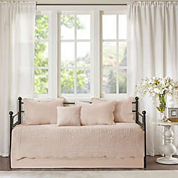 Madison Park Tuscany 6-Piece Reversible Scalloped Edge Daybed Cover Set in Blush