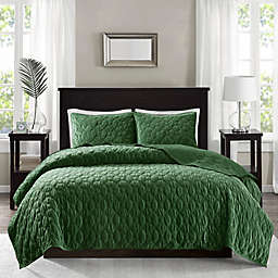 Madison Park Harper Faux Velvet Reversible Coverlet Set